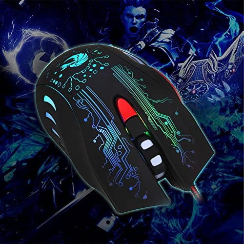 mgjyjy Best Toy Games Entertainment Series 2019 New 5500DPI 6 Buttons USB LED Optical Wired Gaming Mouse Mice PC Laptop Gamer