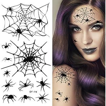 2ffcb8d38 Amazon.com: Tinsley Transfers Spiderweb Elbow Tattoo, One Size ...