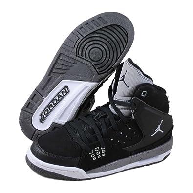 Nike Kids Jordan SC 1 538699 003 Black Wolf Grey Light Graphite Basketball  Sneaker (kids 39ce7767b