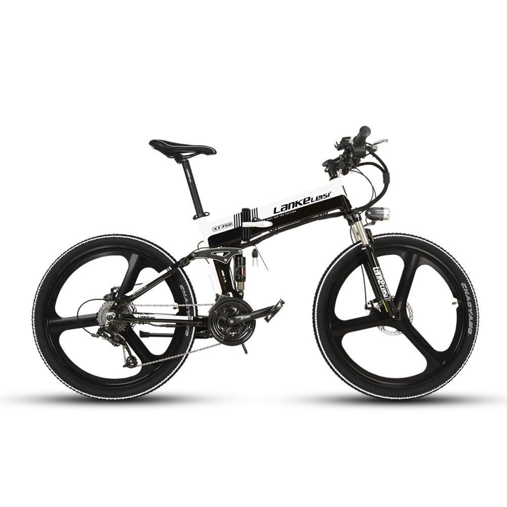 Extrbici XT750 折りたたみ自転車 27段変速 自転車 マウンテンバイク 26インチ アルミフレーム ディスクブレーキ 泥除け付き アップグレード 新品セール B074WP1H79 ホワイト