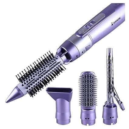Cepillo de aire moldeador de pelo con 4 cabezales, 900 W ...