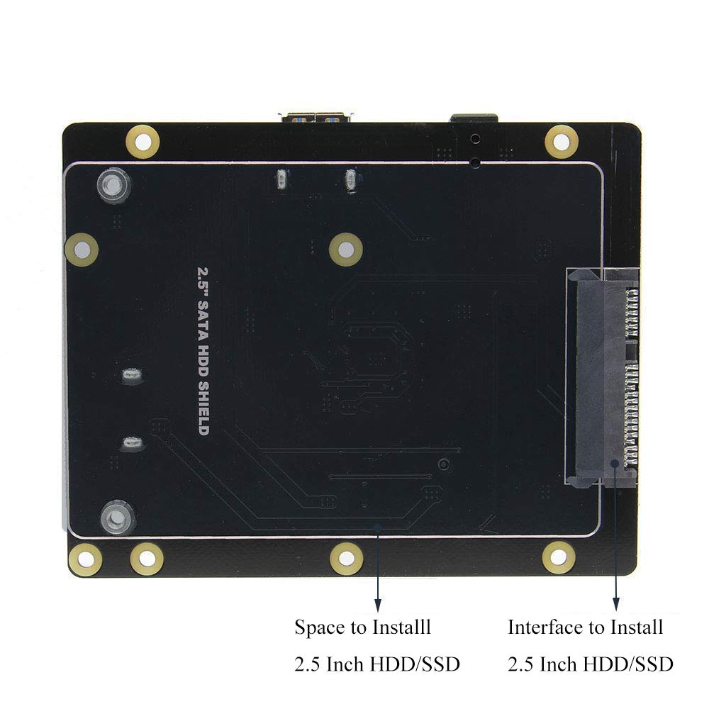 B MakerHawk Raspberry Pi X820 Mise /à Jour V3.0 2,5 Pouces SATA HDD//SSD USB 3.0 Stockage Carte dextension Kit pour Raspberry Pi mod/èle B 3 2B