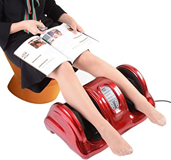 AW Shiatsu Foot Massager Kneading and Rolling Leg Calf Ankle