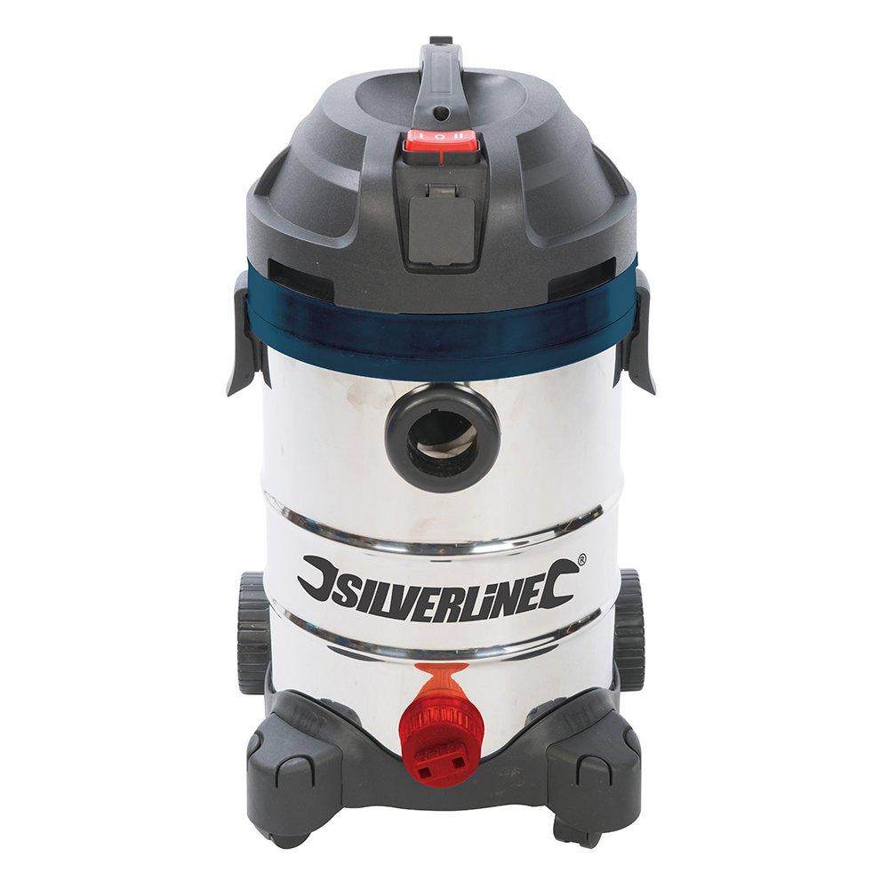 Silverline 974451 - Aspirador para polvo y líquidos Silverstorm 1250 W, 30 litros (1250 W): Amazon.es: Industria, empresas y ciencia