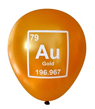 Mad science gold au periodic table element balloons 16 pcs by mad science gold au periodic table element balloons 16 pcs by nerdy words urtaz Choice Image