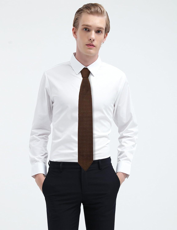 Corbata Ancha de Punto para Hombre Marr/ón Alizeal Estructura