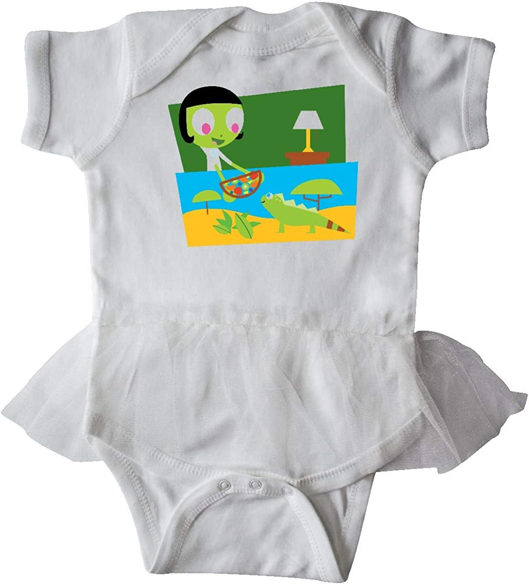 inktastic Dot and Her Iguana Aquarium Infant Tutu Bodysuit PBS Kids