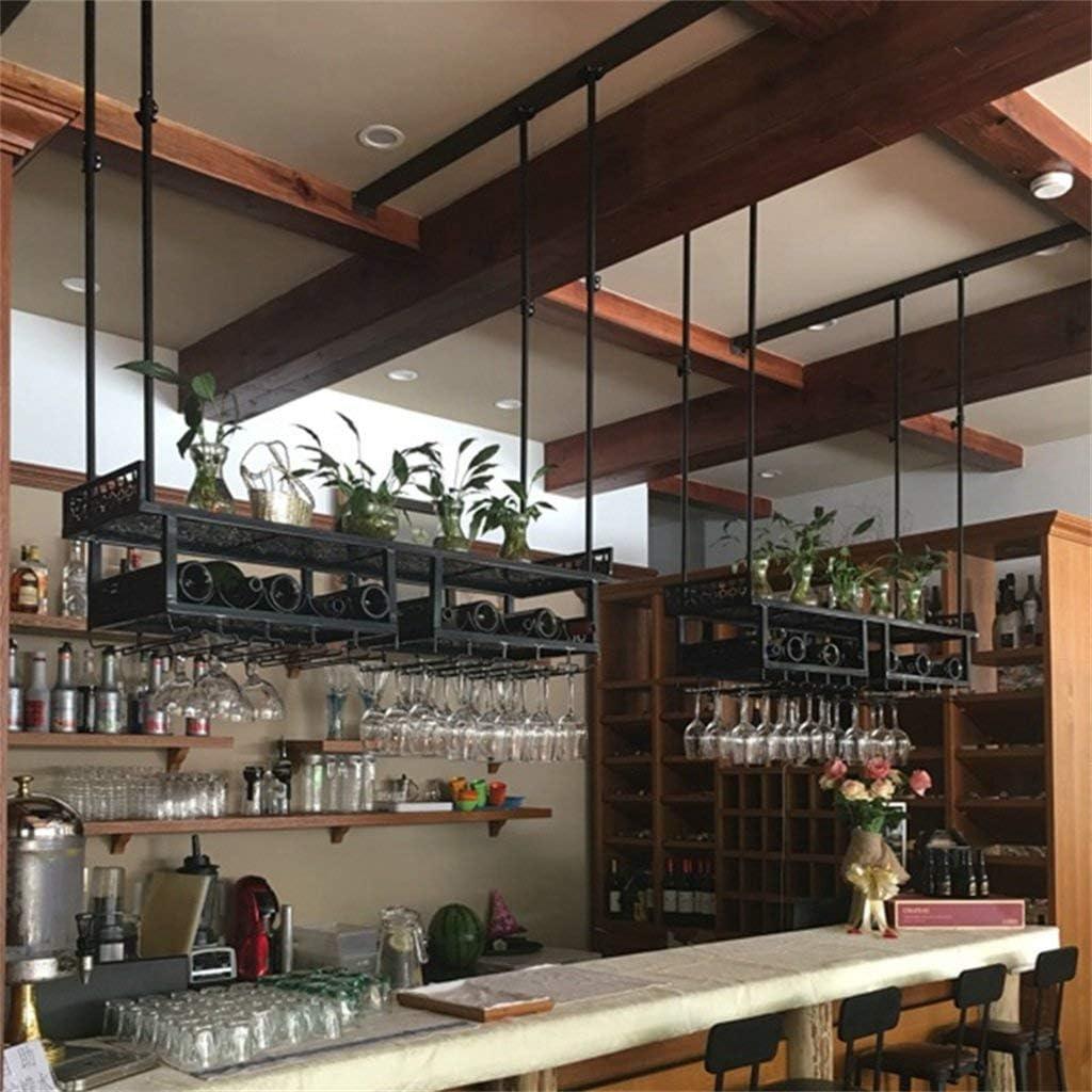 LY88 Wijn Glas Rack Ophangbar Ondersteboven Wijnplank Opslag Smeedijzeren Goblet Rack wijnglazen rek Zwart
