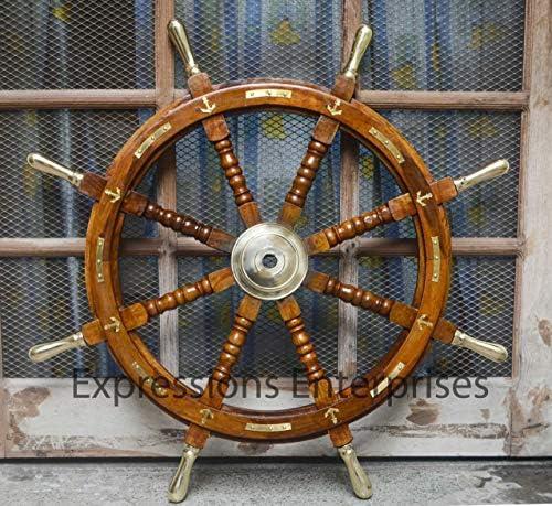 Expressions Enterprises Wooden Ship Wheel