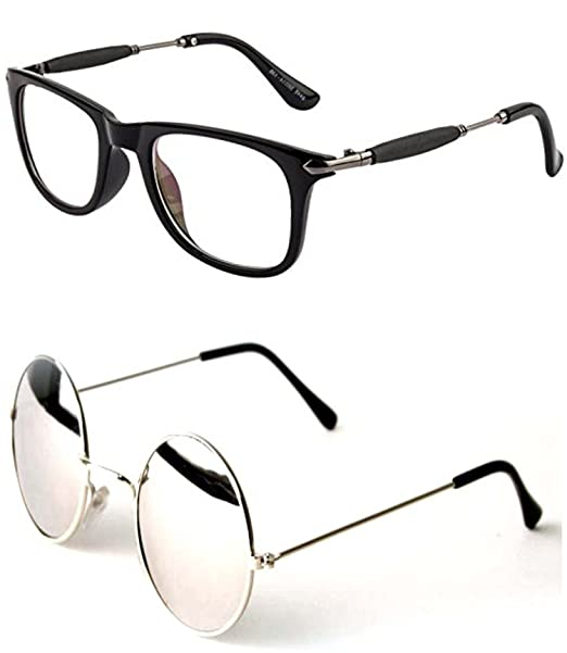 68fc2a7001b Younky Unisex Combo offer Pack of UV Protected Stylish Wayfarer Sunglasses  For Men Women