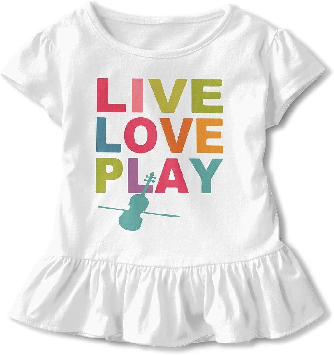 Live Love Play Kids Children Crew Neck T-Shirt Top/&Tee