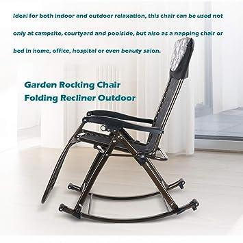 Amazon.com: Rocker - Silla de jardín plegable con almohada ...