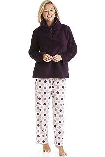 Camille - Conjunto de pijama para mujer - Sudadera de forro polar suave y pantalón con