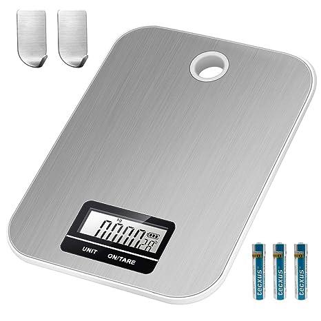 Amazon.com: Báscula digital de cocina multifunción de acero ...