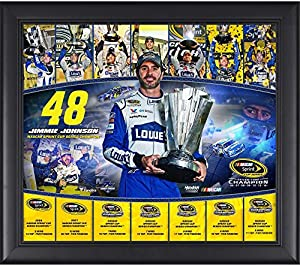 "Jimmie Johnson Framed 15"" x 17"" 2016 Sprint Cup Champion 7-Time NASCAR Champion Collage - Fanatics Authentic Certified from Fanatics Authentic"