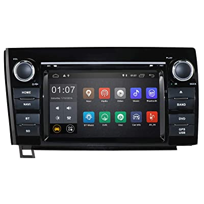 hizpo 7 Inch Multi Touch Screen Android 10 Car Stereo Radio DVD Player GPS Navigation OBD2 Mirrorlink Bluetooth for Toyota Tundra 2007-2013 Sequoia 2008-2014: GPS & Navigation [5Bkhe0400775]