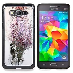 """Significado Deep Purple Gris oscuro emotivo"""" - Metal de aluminio y de plástico duro Caja del teléfono - Negro - Samsung Galaxy Grand Prime G530F G530FZ G530Y G530H G530FZ/DS"""