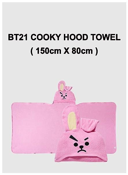 BT21 Cooky Hood Towel 150cm x 80cm