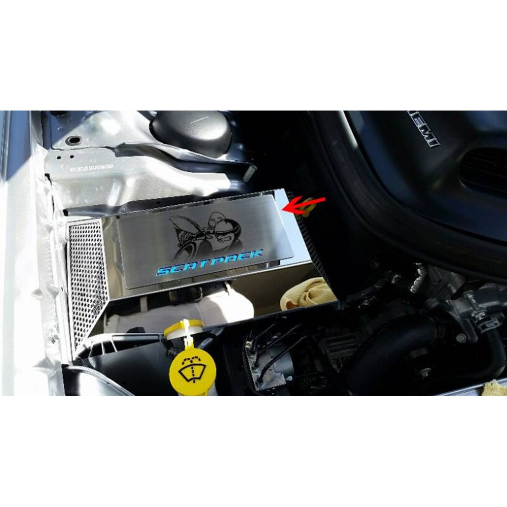 A Body Mopar Fuse Box Upgrade Your Auto Plate W Blue Scat Pack Inlay For 15 16 Challenger Acc Cover Automotive
