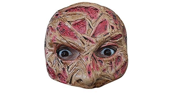 Générique – mahal607 – Demi máscara Cara quemada látex Adulto – Talla única: Amazon.es: Juguetes y juegos