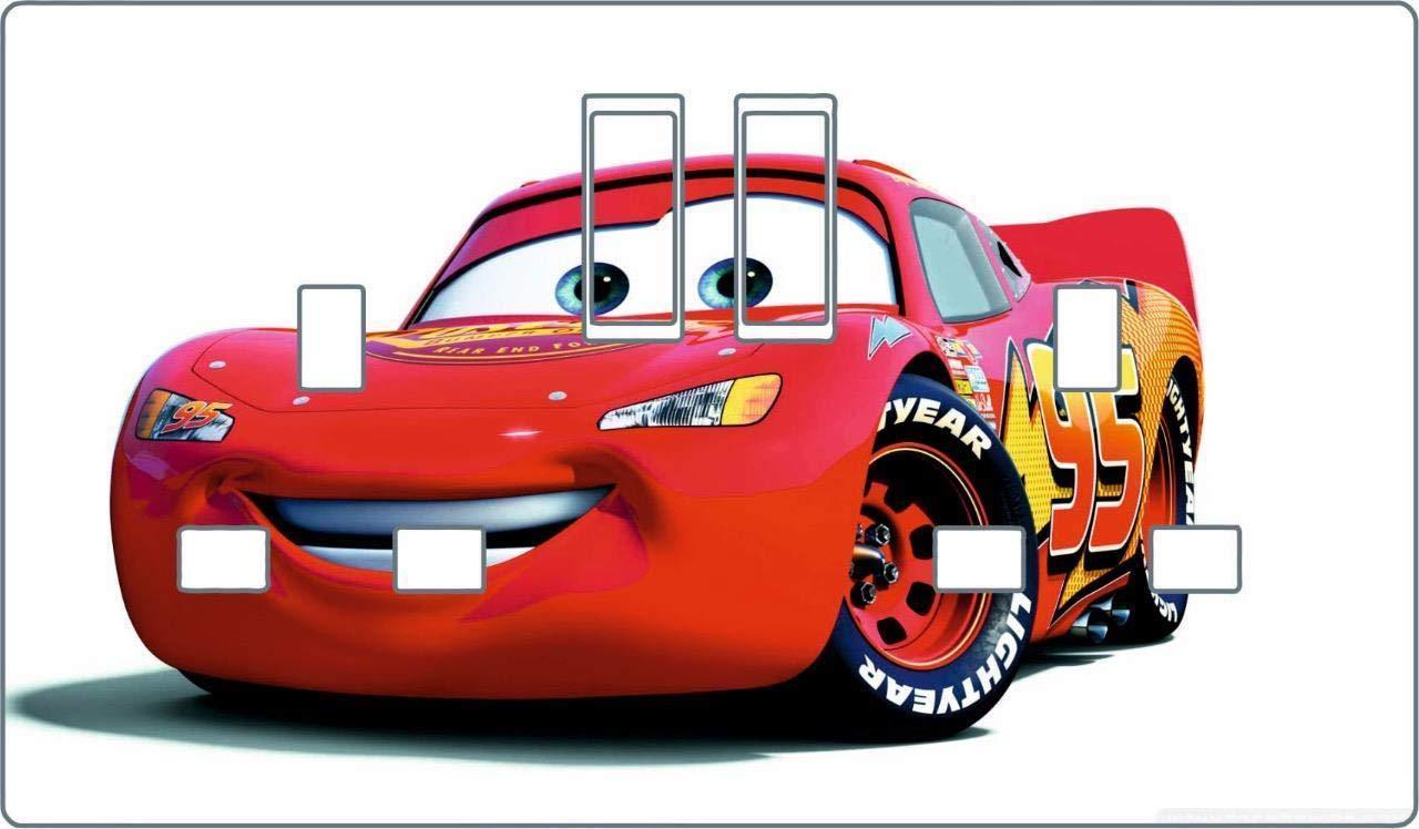 Cars Lighting McQueen Double Plug Socket vinyl cover decal bedroom sticker D20 VINYL HUT