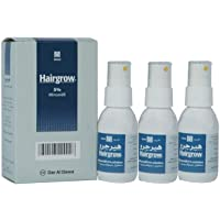 Dar Al Dawa Hairgrow 5% minoxidil 3 months supply (3 bottles x 50ML)