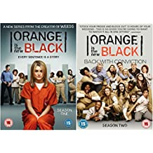 Orange Is The New Black 1-2 Netflix comedy drama : Complete Season 1 and Season 2 DVD Collection with all 26 episodes + Extras