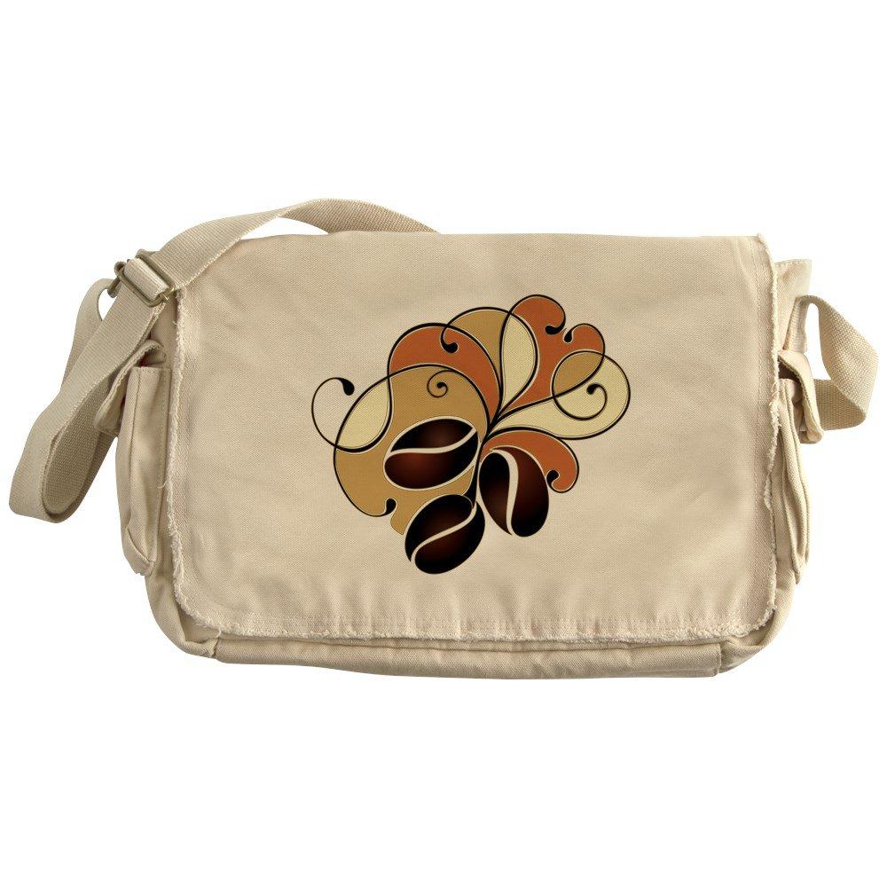 Truly Teague Khaki Messenger Bag Coffee Bean Floral