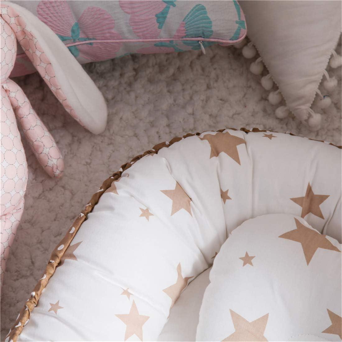 coussin R/éducteur De Lit Baby Pod Couronne grise Hayisugar Baby Nest Cocon Pour B/éb/é,Nid De B/éb/é super Doux Lavable Amovible Nid De Sommeil En Coton Pour Nouveau-N/é Et Nourrisson