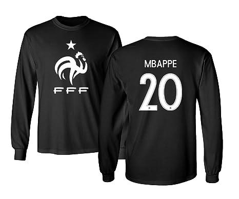 b0234bbcd90 Tcamp France 2018 National Soccer  20 Kylian MBAPPE World Championship  Men s Long Sleeve T-