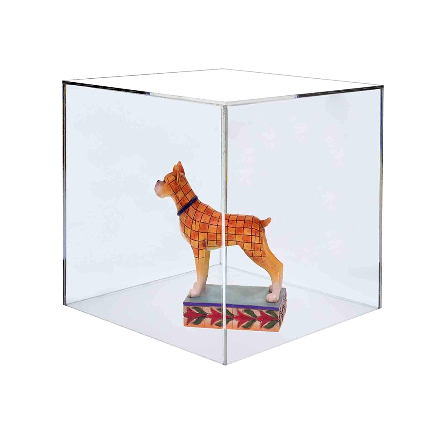 Marketing Holders Show Case 5 Sided Cube Retail Riser Advertisement Display Art Pedestal Museums Wedding Receptions Venues Jewelry Display 1, 12 Inch