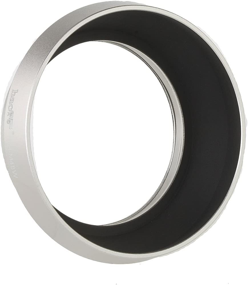 Haoge LH-F48W Square Metal Lens Hood Shade for Olympus M.ZUIKO Digital 17mm f1.8 17 1.8 Lens Replace Olympus LH-48B Silver