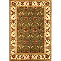 KAS Oriental Rugs Lifestyles Collection Agra Area Rug, 710 x 910, Green/Ivory