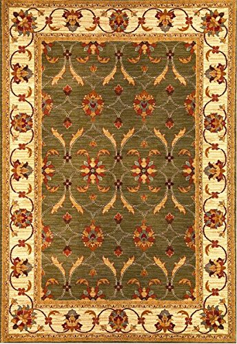 Agra Ivory Green - KAS Oriental Rugs Lifestyles Collection Agra Area Rug, 2'7