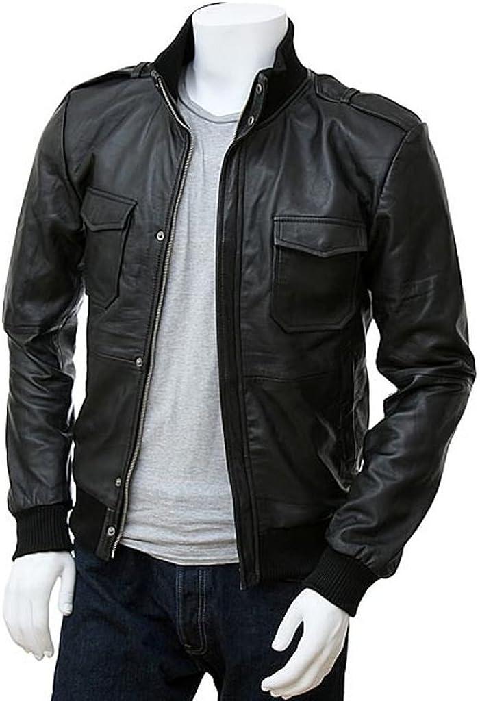 Pristine Leather Mens Napa Real Leather Jacket Winter Fashion Coat