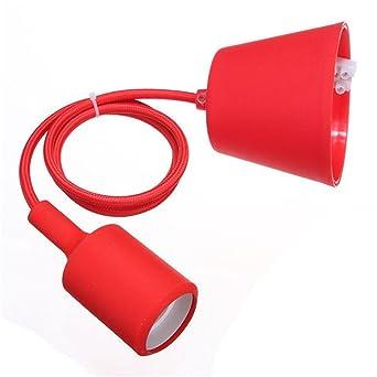Portalamparas suspension de lampara - SODIAL(R) E27 Montura de caucho de silicona Cable