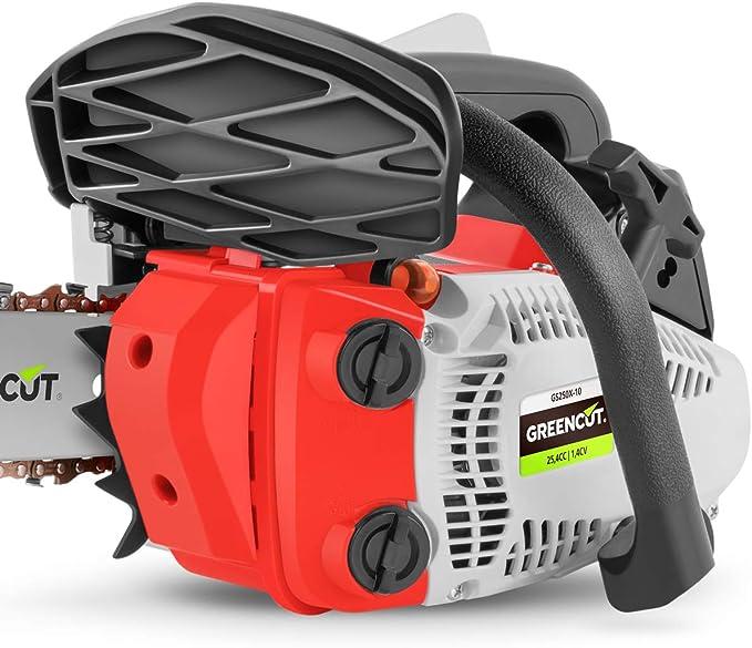 GREENCUT GS250X-10 - Motosierra Poda de gasolina 25,4cc y 1,4cv ...