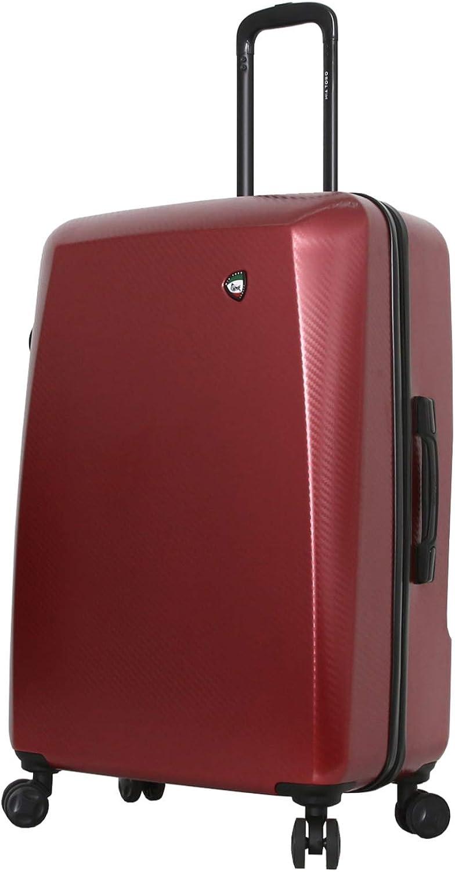 Burgundy Mia Toro Italy Torino Hard Side 28 Inch Spinner Luggage