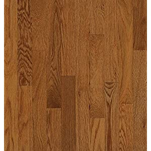 "Bruce Hardwood Floors C8201 Waltham Strip Oak Solid Hardwood Flooring, 2-1/4"", Gunstock"