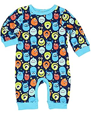 Monsters Inc Boys Coverall Romper (Baby)