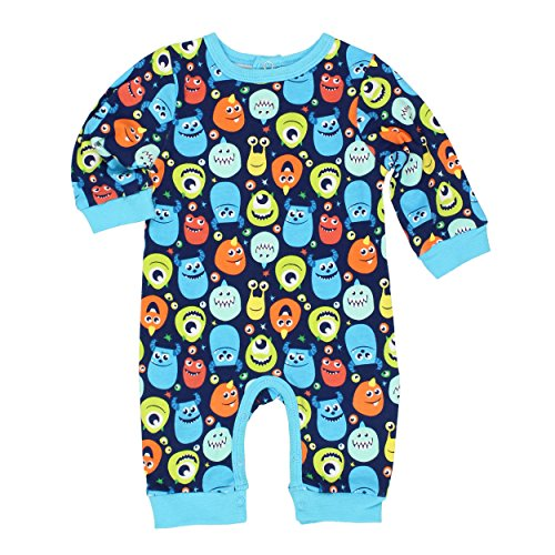 Monsters Inc Baby Boys Coverall Romper (0-3 Months, Monsters Blue) (Baby Monsters Inc)