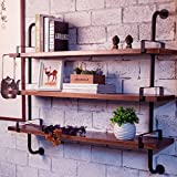 Reclaimed Wood & Industrial DIY Pipes Shelves For Home(36'')