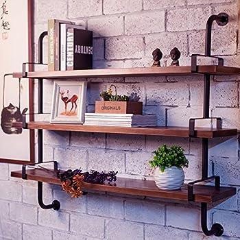 Reclaimed Wood U0026 Industrial DIY Pipes Shelves For ...
