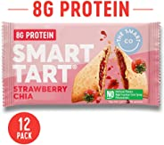 Smart Tart Unfrosted Toaster Pastries - Breakfast Snacks - Only 180 Calories - No Artificial Ingredients (Strawberry Chia)