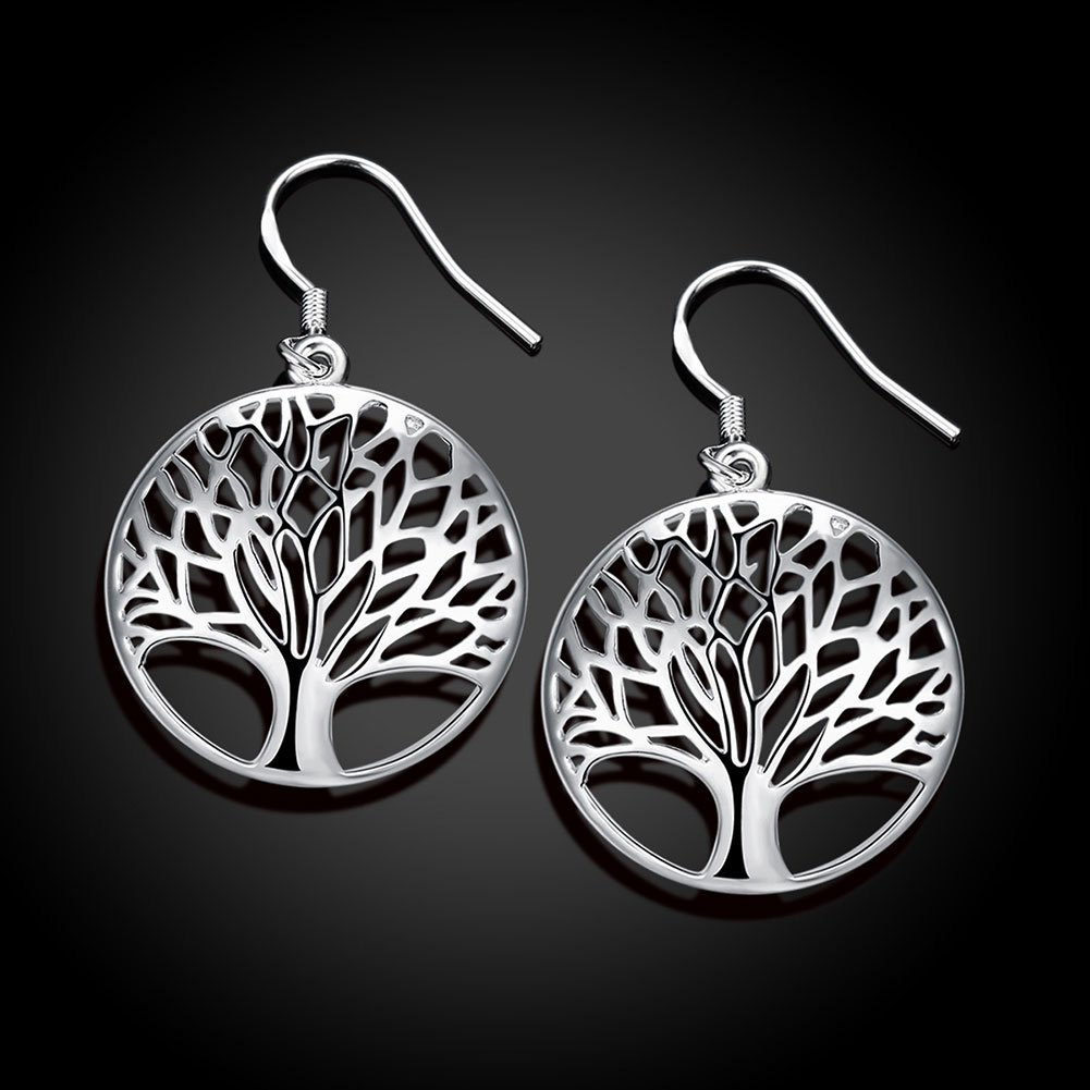 Argent Boucles doreilles pour femme Design arbre de vie 2188 25 mm Styleziel