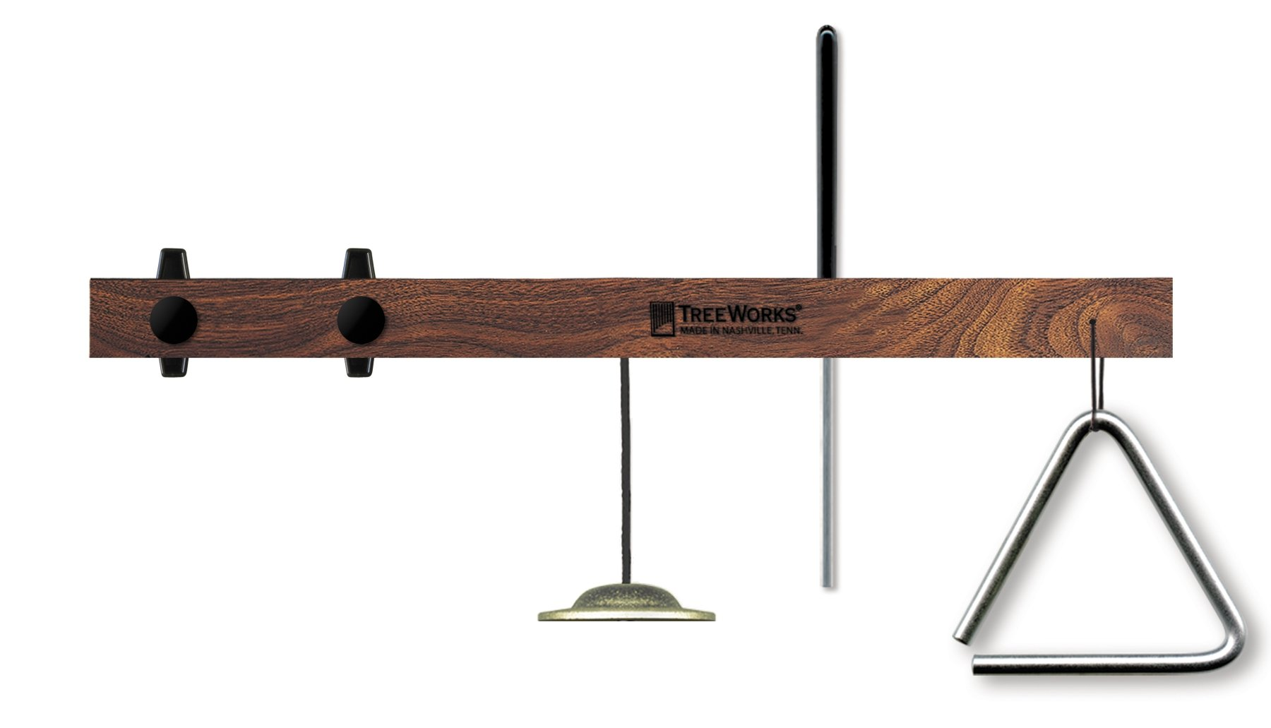 TreeWorks Chimes TRE53 Made in USA Triangle Mount with Finger Cymbal and Triangle Beater [Triangle Not Included] (VIDEO)