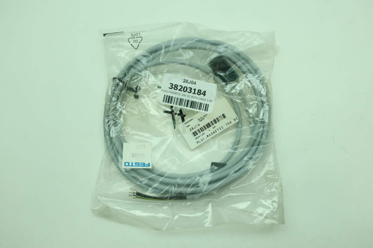 Amazon.com: FESTO 151688 KMEB-1-24-2.5-LED Plug Socket with Cable D629198: Industrial & Scientific