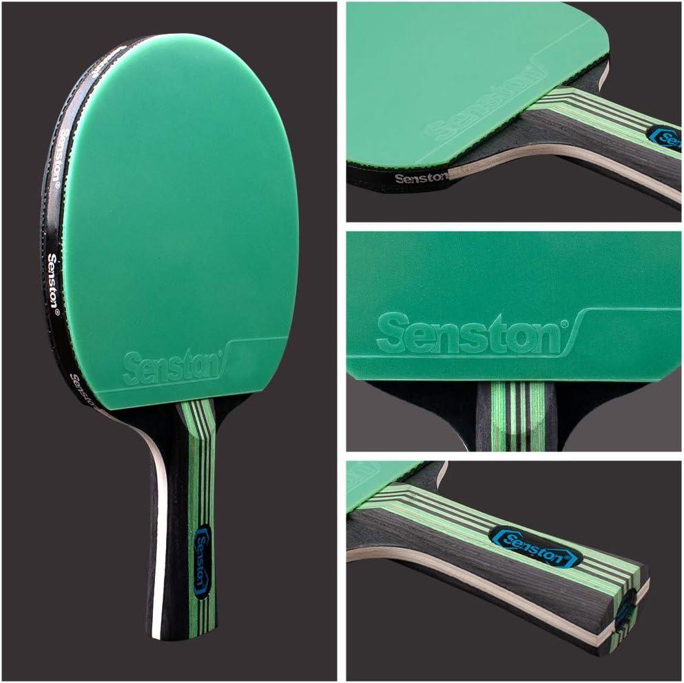 3 Pelotas 2 Raquetas de Tenis de Mesa Pelotas Ping Pong Set Senston Palas Ping Pong 1 Bolsa,el Entrenamiento//Kit de Raqueta recreativa