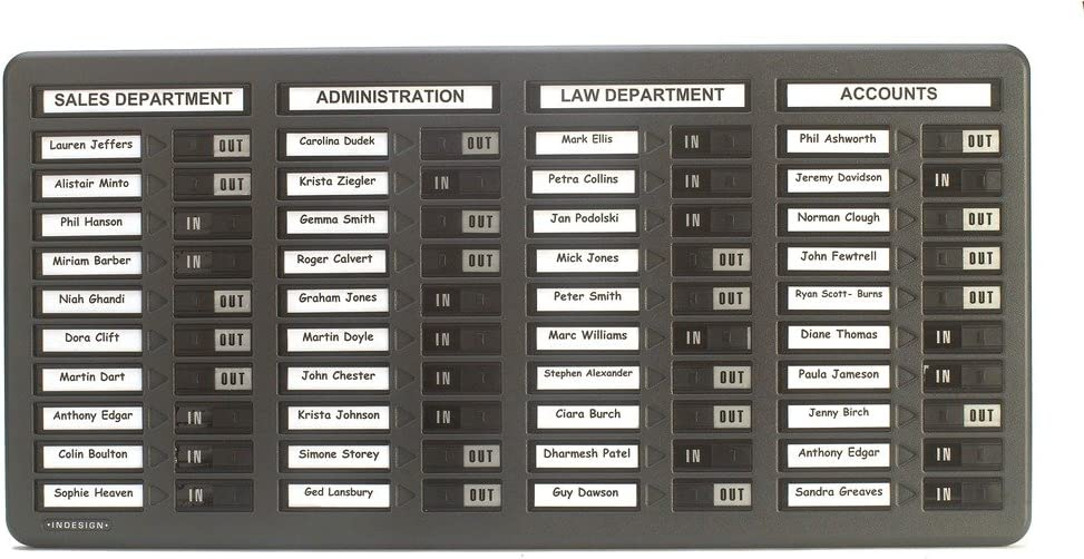 Indesign Wpit40i in/Out Board 40 Names - Grey