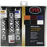 Golden Open Acrylic Set of 6 22 ml Tubes - Traditional Colors